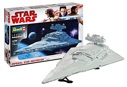 Revell 06719 Modellbausatz, Star Wars 1:2700-Imperial Destroyer, Level 4, orginalgetreue Nachbildung mit vielen Details-06719