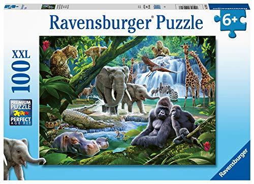 Ravensburger Jungle Families Puzzle mit extra großen Teilen für Kinder ab 6 Jahren, 100 Teile