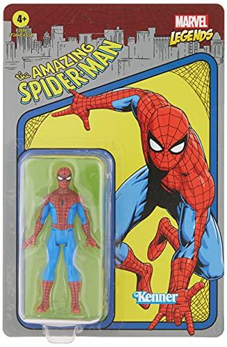 Marvel F2654 Hasbro Legends Series 9,5 cm große Retro 375 Collection Spider-Man Action-Figur