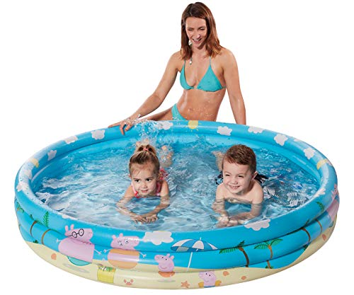 Smart Planet® Planschbecken Peppa Pig aufblasbar - 122 x 23 cm - 3-Ring-Pool Peppa Wutz - Kinderpool - Babypool - Schwimmbecken - Aufstellpool