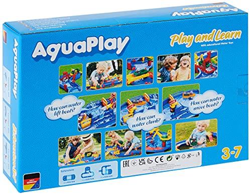 AquaPlay - T-Stück 2x - Erweiterungsset für AquaPlay Wasserbahnen, 2 x T-Stück Elemente, 3 x Verbindungsklammern, 6 x Gummidichtung, Wasserstraßen Zubehör