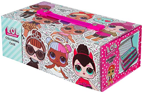 L.O.L. Surprise! Malkoffer Für Kinder Madchen | Rosa Paintbox Mit 52 Teile | Jumbo Bastelbox | Malset Jumbo | Kreativ Koffer Für Kinder | Malset Fur Kinder