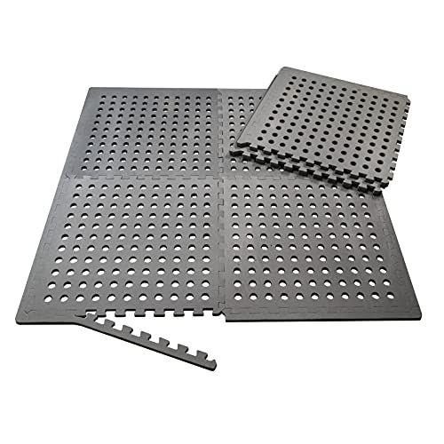 Mauk Flexible Poolmatten Bodensystem Schutzmatten Bodenschutzmatte, grau, XL