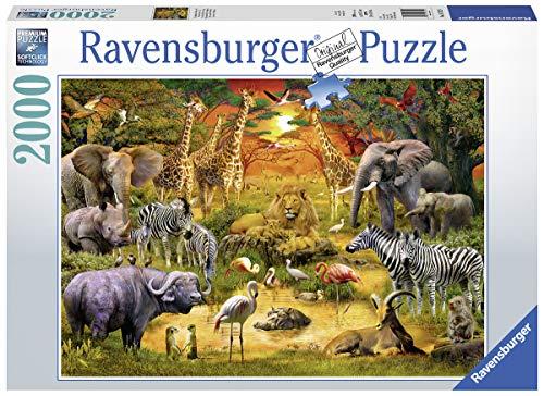 Ravensburger Puzzle 16702 - Versammlung am Wasserloch - 2000 Teile