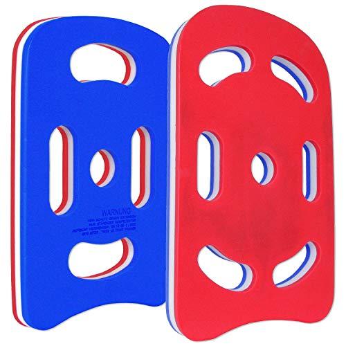 Sport-Thieme Schwimmbrett Multi   Schwimmhilfe, Kick-Board für Erwachsene u. Kinder   In Zwei Größen mit 5 o. 7 ergonomischen Grifflöchern   Aus weichem Plastazote Schaumstoff