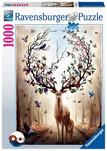Ravensburger Puzzle 15018 - Magischer Hirsch - 1000 Teile Puzzle für Erwachsene und Kinder ab 14 Jahren, Puzzle mit Hirsch-Motiv