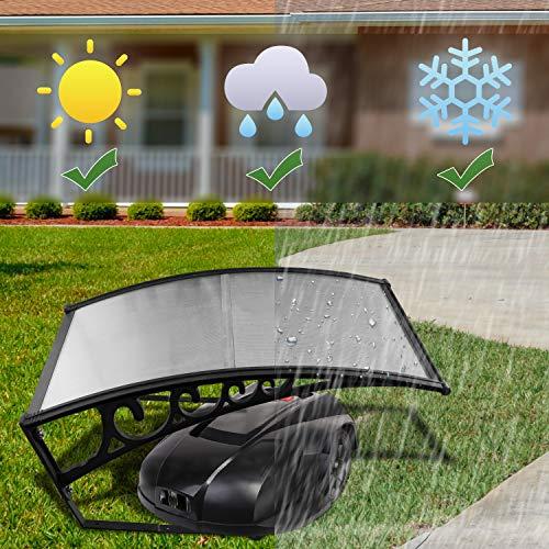 Hengda® Für Rasenroboter Automower Rasenmäher Schutzhülle Garten Rasen Rasenmäher Garage Mähroboter Dach Carport Größe 100 x 80 cm