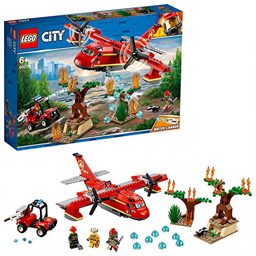 LEGO City 60217 Löschflugzeug der Feuerwehr, Kinderspielzeug