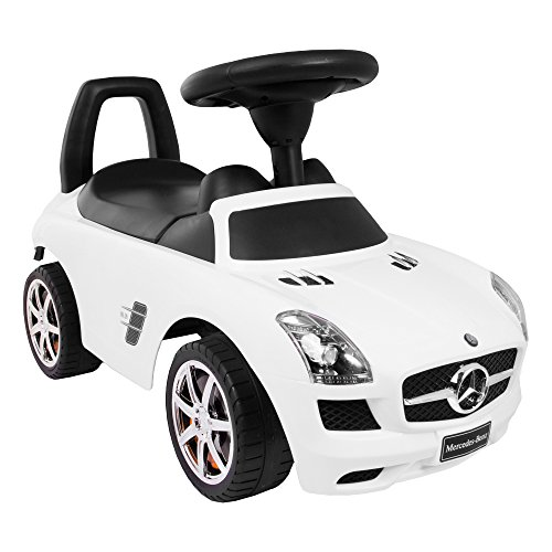 Mercedes RUTSCHAUTO Benz SLS AMG KINDERFAHRZEUG LIZENZIERT Weiss Hit!!!