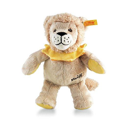 Steiff Leon Löwe - 22 cm - Plüschlöwe - Kuscheltier für Babys - weich & waschbar - beige / gelb / orange (240904)