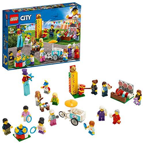 LEGO 60234 City Stadtbewohner – Jahrmarkt, Bauset mit 14 Minifiguren, Baupielzeug für Kinder ab 5 Jahren