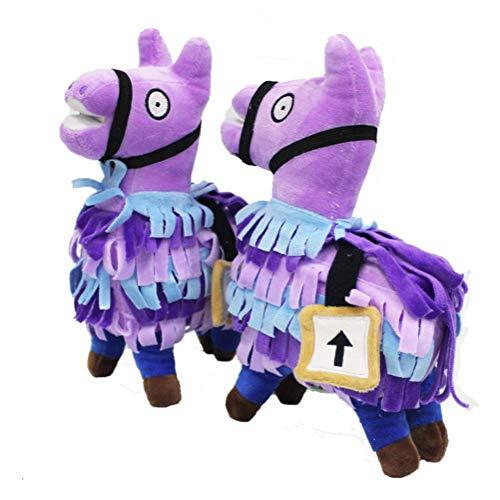 yiguanguan Lama Plüsch Alpaka Plüschfigur Plüschtier Kuscheltier Stofftier Weihnachten Game Spiel PuppeGeschenk Für Baby Kinder (Purple, 35cm)