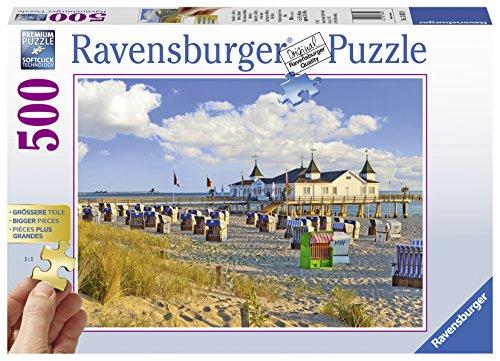 Ravensburger Puzzle 13652 - Strandkörbe in Ahlbeck - 500 Teile Puzzle für Erwachsene, Größere Teile für einfaches Puzzeln