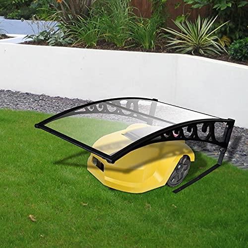 EINFEBEN Rasenroboter-Garage Dach Carport UV-Schutz witterungsfest Hagel für Rasenmäher Roboter Mähroboter Rasenroboter Automower 103 x 51 x 7.5 cm