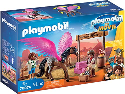 PLAYMOBIL:THE MOVIE 70074 Marla, Del und Pferd mit Flügeln, Ab 5 Jahren