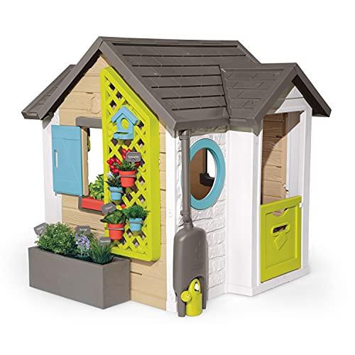 Smoby 810405 - Gartenhaus - Spielhaus für drinnen und draußen, mit kleiner Eingangstür und Fenstern, viel Zubehör zum Gärtnern, für Jungen und Mädchen ab 2 Jahren