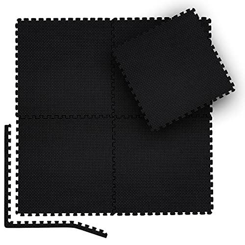 bonsport Bodenschutzmatten 12er-Set - Puzzlematte 38,5x38,5cm Bodenmatte Schutzmatte