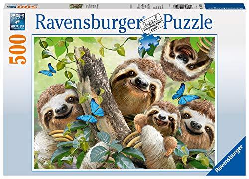 Ravensburger Puzzle 14790 - Faultier Selfie - 500 Teile Puzzle für Erwachsene und Kinder ab 10 Jahren, Puzzle mit Tier-Motiv