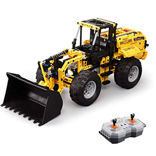 Sunbary Technik Radlader Bausteine, 491 Teile 2.4G 4CH Ferngesteuert Frontlader, Kompatibel mit Lego Technic