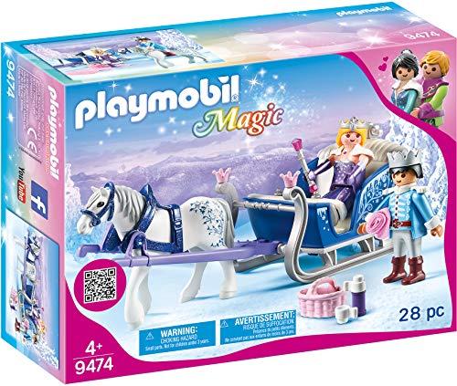 PLAYMOBIL Magic 9474 Schlitten mit Königspaar, Ab 4 Jahren