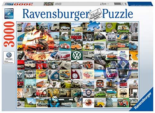 Ravensburger Puzzle 3000 Teile 99 VW Bulli Moments, Puzzle Für Erwachsene Und Kinder Ab 14 Jahren