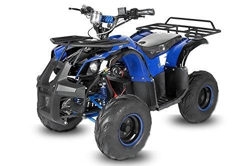 "Eco Toronto 1000W 48V | 20A | 7"" Quad Elektroquad Midiquad Atv Kinderquad (Blau)"