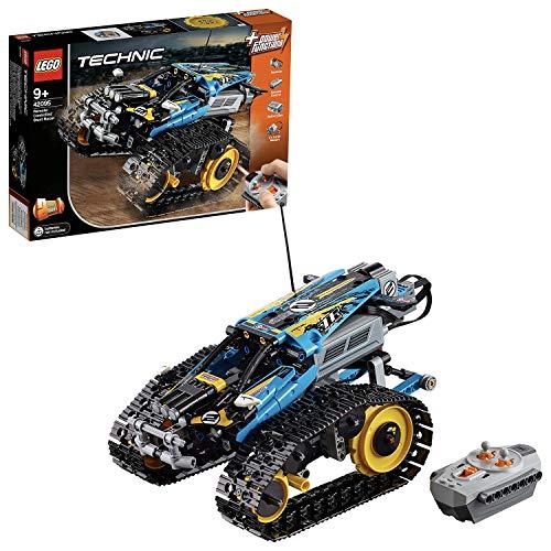 LEGO 42095 Technic Ferngesteuerter Stunt-Racer Spielzeug, 2-in-1-Rennwagen Modell mit Motorfunktionen, Rennwagen-Sammlung