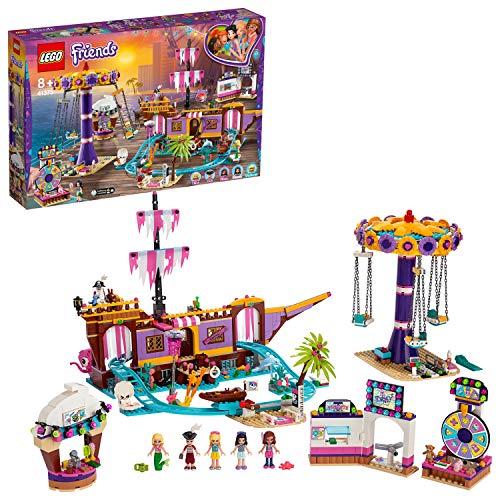 LEGO 41375 Friends Vergnügungspark von Heartlake City, Bauet mit Geisterpiratenschiff, Kettenkarussell und 5 Minipuppen