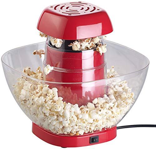 Rosenstein & Söhne Popcornmaker: Heißluft-Popcorn-Maschine mit Auffangschale, für 80 g Mais, 1.200 Watt (Popcorn Machine)
