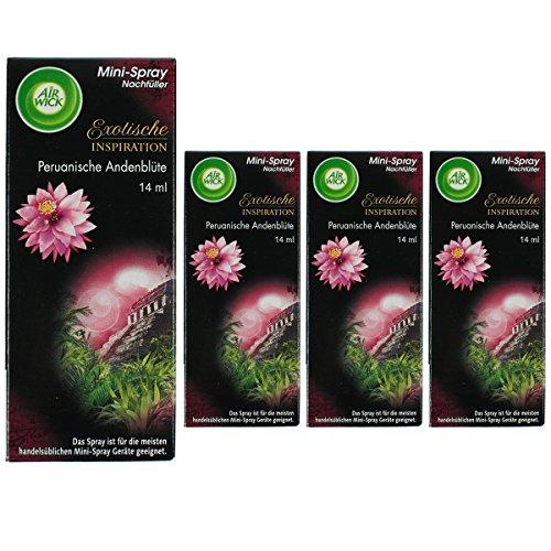 4 x Air Wick Mini Spray Nachfüller Peruanische Andenblüte 14ml für One Touch