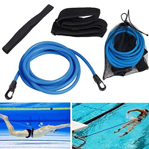 4M Pool Schwimmgürtel Einstellbare | Schwimmwiderstand Gürtel | Durable Schwimmgurt für Kinder/Erwachsene | für Schwimmingpools Widerstandstraining Schwimmtraining Bungee Schwimmgürtel