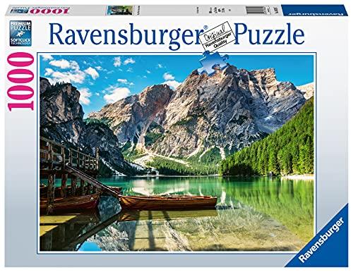Ravensburger Puzzle 1000 Teile - Pragser Wildsee, Dolomiten, Südtirol - Puzzle für Erwachsene und Kinder ab 14 Jahren, Puzzle mit Landschafts-Motiv, Amazon Sonderedition