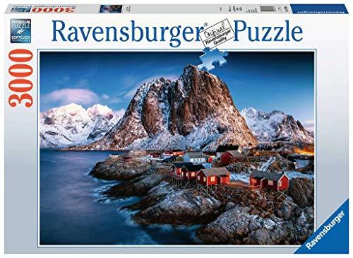 Ravensburger Puzzle 17081 - Hamnoy, Lofoten - 3000 Teile Puzzle für Erwachsene und Kinder ab 14 Jahren, Puzzle mit Landschafts-Motiv von Norwegen