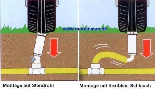 5 Stück RAIN BIRD Regneranschlusssystem 30 cm flexibler Abzweigschlauch + 3/4' Winkel 3/4' Außengewinde x 3/4' Außengewinde