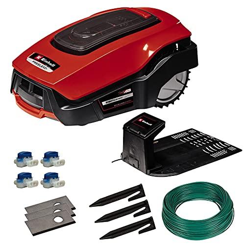 Einhell Rasenmäher FREELEXO 800 LCD BT Solo Power X-Change (ohne Akku, 18 V, 800 m², Multizonenmäher, Bluetooth, für Steigungen bis zu 35%, inkl. Installationszubehör)