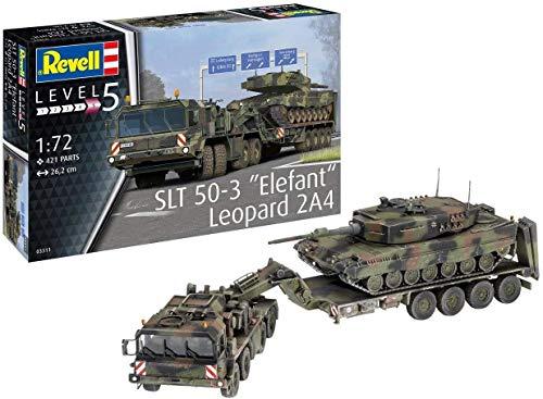 Revell REV-03311 SLT 50-3' Elefant und Leopard 2A4, 1:72 Toys, farbig