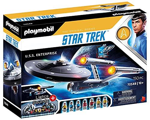 PLAYMOBIL Star Trek 70548 U.S.S. Enterprise NCC-1701, Mit AR-APP, Lichteffekten und Original-Sounds, 5-99 Jahre