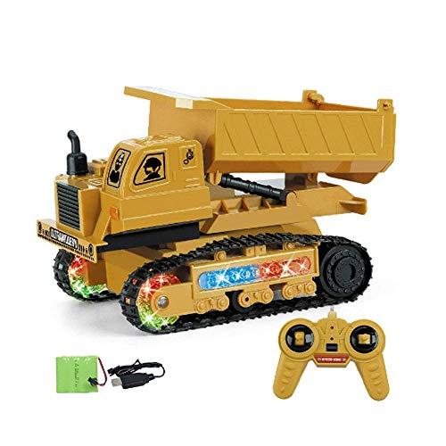 LKNJLL Fernbedienung Bau-Kipper-Spielzeug, RC Muldenkipper Spielzeug, Baumaschinen Spielzeug Fahrzeug, RC Truck Spielzeug for 2,3,4,5,6,7,8,9 Jahre alten Jungen und Up, Kleinkind-Spielzeug-LKW Maßstab