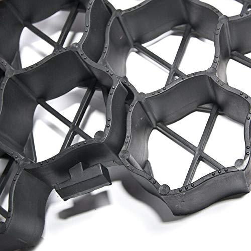 Lgarden Schwarz Rasengitter 60x40x4 cm | Wabengitter Platten zum Rasen- und Bodenschutz | Rasengitterplatten Rasenwaben Rasenmatten mit Bodenkreuzen Bodenwaben