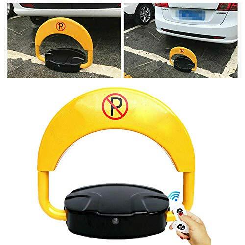 Parksperre Wasserdicht Falten Automatische Parkplatzsperre mit 2 Fernbedienung und Schlüssel 30 m Gelb für Privater Parkplatz