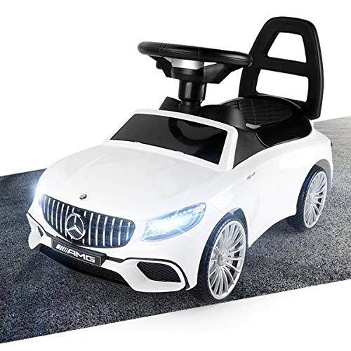 Mercedes-Benz S AMG 65 Rutschauto LED Rutscher Kinderfahrzeug Kinderauto Lizenz NEU WEISS