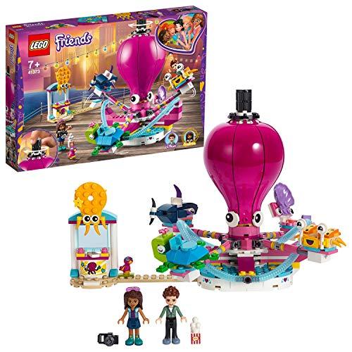 LEGO 41373 Friends Lustiges Oktopus-Karussell Bauset, Spaß im Vergnügungspark