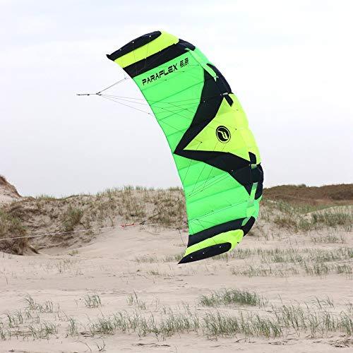 Wolkenstürmer Paraflex Sport 2.3 Lenkmatte, grün - Kite für Jungendliche und Erwachsene