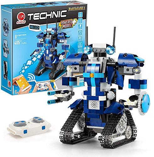 CIRO Programmierbarer and Ferngesteuerter Roboter Steuerung per APP und Fernbedienung STEM Technik Bausteine Spielzeug Weihnacgtengeschenkes für Kinder ab 8 Jahren