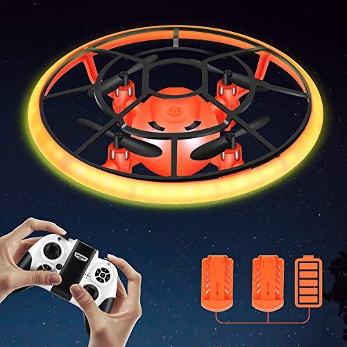 Rolytoy VraiJouet Mini Drohne für Kinder mit LED, Ferngesteuertes Flugzeug Quadrocopter mit Höhehalten und Headless Modus, Kinder Spielzeug ab 6 7 8 9 10 Jahre Jungen, Geschenke für Kinder