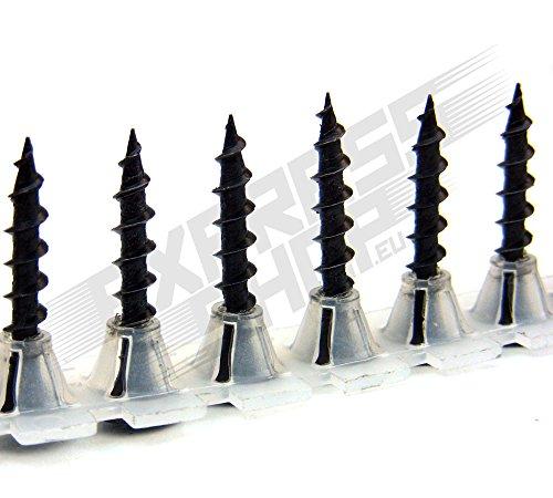 Gurtschrauben Magazinschrauben 3,9 x 25 Grobgewinde für Bosch Makita Hitachi usw. - PROFIQUALITÄT FÜR TROCKENBAUER (2000 Stk.)