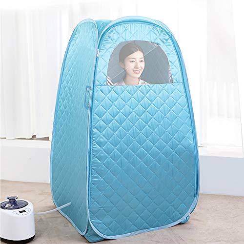 ZYQDRZ Tragbare Dampfsauna, Faltbare Persönliche Saunakabine, Badezimmerzelt, Einschließlich Fernbedienung, Spa-Maschine Zur Gewichtsreduktion,Blau