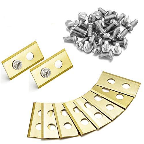 Plustool 45x Titan Messer Klingen, Mähroboter Ersatzmesser für Worx Landroid, 1mm Hochwertige Titan-Klingen & Verbesserte Dacromet-Schrauben Set