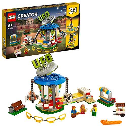 LEGO 31095 Creator 3-in-1 Jahrmarktkarussell Set, Jahrmarkt-Abenteuer, Weltraum-Modell