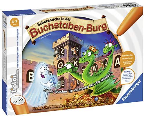 Ravensburger tiptoi 00737 - 'Schatzsuche in der Buchstabenburg' / Spiel von Ravensburger ab 4 Jahren / Anlaute, Buchstaben, Silben und Reime lernen - in 4 Schwierigkeitsstufen